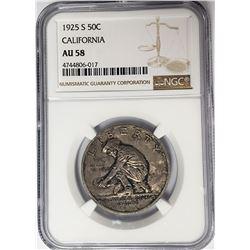1925 California CommemHalf Dollar NGC AU58