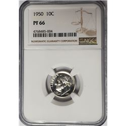 1950 10C Roosevelt Dime NGC PF66 Proof