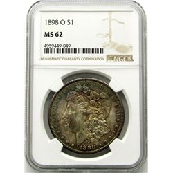 1898-O Morgan Silver Dollar $ NGC MS 62