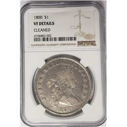 1800 $1 Bust Draped Silver Dollar NGC VF Details
