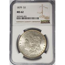 1879-P Morgan Silver Dollar $1 NGC MS62