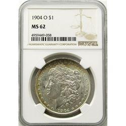 1904-O Morgan Silver Dollar $ NGC MS 62