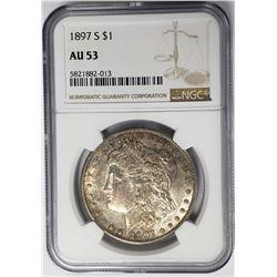 1897-S $1 Morgan Silver Dollar NGC AU53