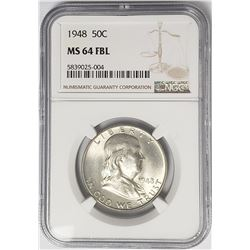 1948-P Franklin Half Dollar 50C NGC MS64 FBL