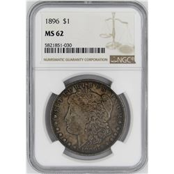 1896 NGC MS62 MORGAN SILVER DOLLAR