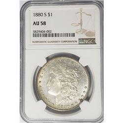 1880-S Morgan Silver Dollar $1 NGC AU58