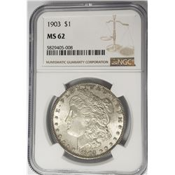 1903-P Morgan Silver Dollar $1 NGC MS62