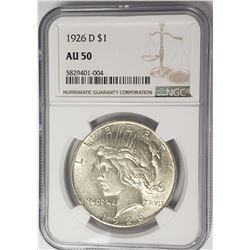 1926-D Peace Dollar $1 NGC AU50