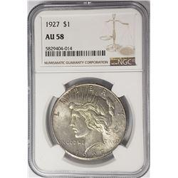 1927-P Peace Dollar $1 NGC AU58