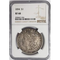 1894-P Morgan Silver Dollar $1 NGC XF40