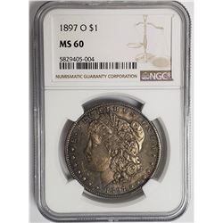 1897-O Morgan Silver Dollar $1 NGC MS60