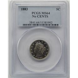 1883 LIBERTY V NICKEL PCGS MS 64