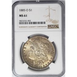 1885-O Morgan Silver Dollar $1 NGC MS61