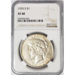 1935-S Peace Dollar $1 NGC XF40