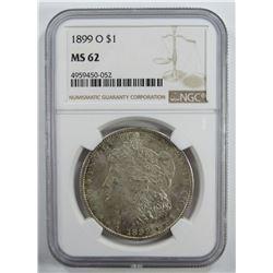 1899-O Morgan Silver Dollar $ NGC MS 62