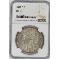 1899-O NGC MS62 MORGAN SILVER DOLLAR