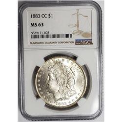 1883 CC Carson City Morgan Dollar NGC MS63