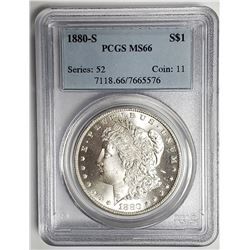 1880-S Morgan Silver Dollar $1 PCGS MS66