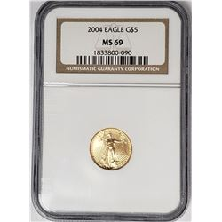 2004 $5 GOLD AMERICAN EAGLE NGC MS69