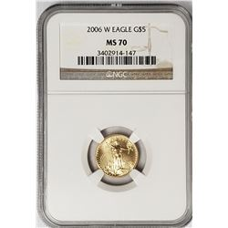 2006 $5 GOLD AMERICAN EAGLE NGC MS70