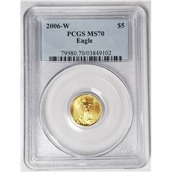 2006-W $5 GOLD AMERICAN EAGLE PCGS MS70