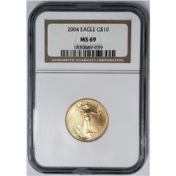 2004 $10 GOLD EAGLE NGC MS69