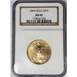 2004 $25 GOLD EAGLE NGC MS69
