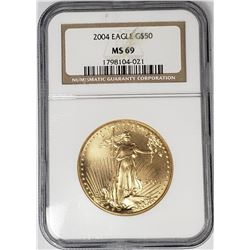 2004 $50 GOLD EAGLE NGC MS69