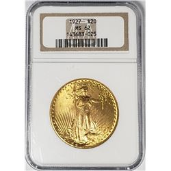 1927 $20 ST GAUDENS GOLD NGC MS62