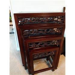 Asian Style Wood Nesting tables