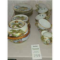 Asian Fine Porcelain Tea Set