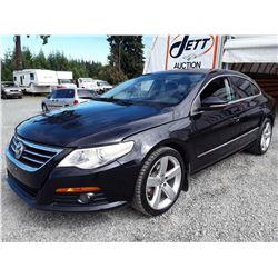 E1 --  2009 VW PASSAT CC LUXURY  , Black , 137429  KM's