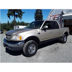 """A8 --  2001 FORD F150 CREW CAB 4X4, BROWN, 481,418 KMS  """"NO RESERVE"""""""