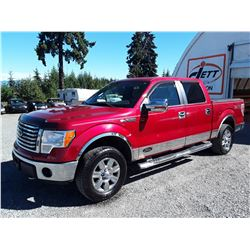 G6 --  2010 FORD F150 SUPER CREW 4X4, RED, 225,580 KMS