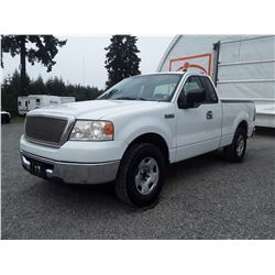 F2 --  2007 FORD F150 EXT CAB , White , 389090  KM's