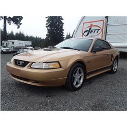 D1 --  2000 FORD MUSTANG GT , Gold , 151908  KM's