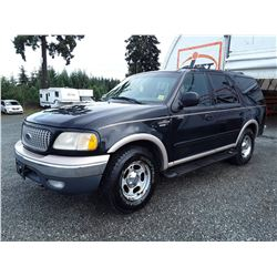 """A4 --  1999 FORD EXPEDITION EDDIE BAUER , Black , UNKNOWN MILEAGE  KM's """"""""NO RESERVE"""""""""""