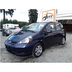 C4 --  2008 HONDA FIT , Blue , 220452  KM's
