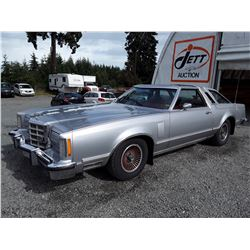 0C --  1979 FORD THUNDERBIRD , Silver , 46952  KM's, 5 DIGIT ODOMETER *TMU* NO RESERVE