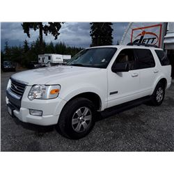 A12A --  2008 FORD EXPLORER XLT , White , 199081  KM's