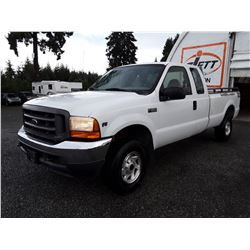 "A2 --  2001 FORD F250 XL SUPER DUTY , White , 249100  KM's ""NO RESERVE"""