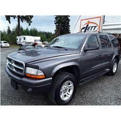 J2 --  2003 DODGE DURANGO SLT PLUS , Grey , 179310  KM's