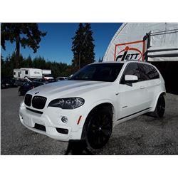 C6B --  2010 BMW X5 XDRIVE 48I  , White , 128636  KM's