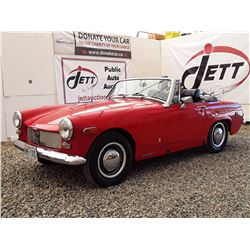 0E --  1975 MG MIDGET CONVERTIBLE , Red , 21,426 MILES, 5 DIG ODO  *TMU*