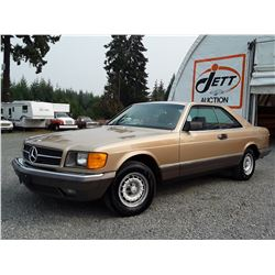 0A --  1983 MERCEDES 380 SEC COUPE, GOLD, 204,924 KMS
