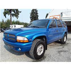 K1 --  1999 DODGE DURANGO , Blue , 213513  KM's