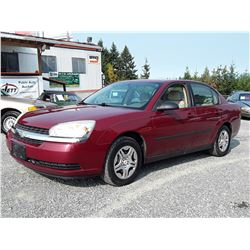 A12D --  2005 CHEVROLET MALIBU , Red , 246855  KM's