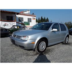 A12I --  2003 VW GOLF GL TDI  , Grey , 316323  KM's