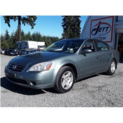 C3 --  2003 NISSAN ALTIMA, BASE, GREEN, 226,520 KM'S