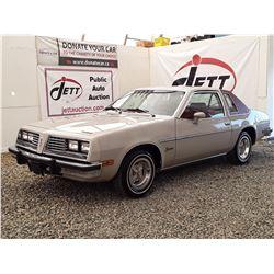 0M --  1980 PONTIAC SUNBIRD  , Grey , 75911 TMU  5 DIG ODO  KM's